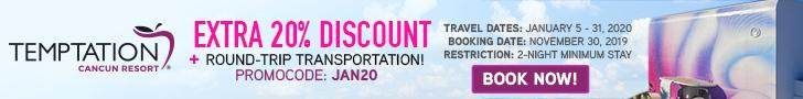 promo codes Temptation Cancun resort