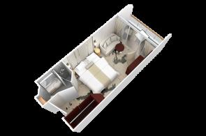 Club Deluxe Veranda Stateroom Red Carpet 2020