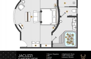 Desire Resort Jacuzzi Garden View Room