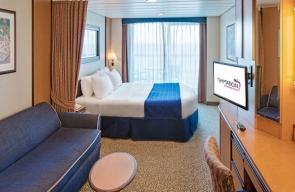 Spacious Ocean View Balcony Stateroom Temptation Caribbean Cruise 2020
