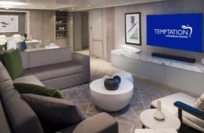 Temptation Cruise 2022 Penthouse Suite Woongedeelte